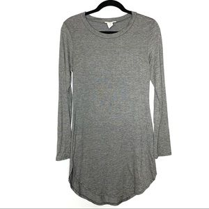 Poetry sz L gray long sleeve T-shirt dress